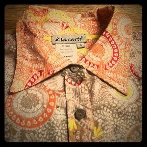 Vintage textured hippie button-down 100% cotton